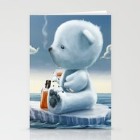 Derek The Depressed Bear Stationery Cards