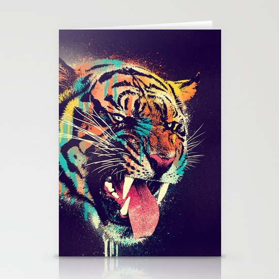 FEROCIOUS TIGER Stationery Card