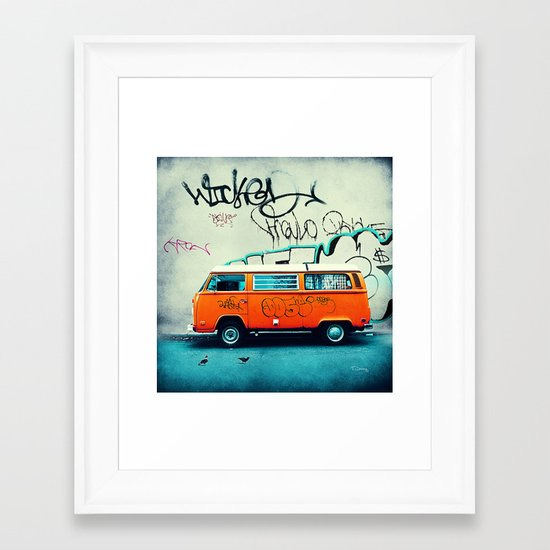 VW Van Framed Art Print
