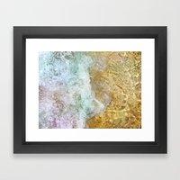 cycle wave Framed Art Print