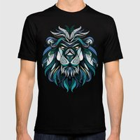 Blue Lion Mens Fitted Tee Black SMALL