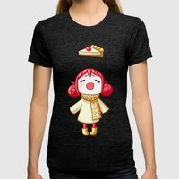 Cherry Pie Womens Fitted Tee Tri-Black SMALL