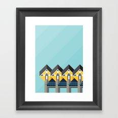 Cube Houses / Rotterdam Framed Art Print