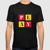 Play Mens Fitted Tee Tri-Black SMALL