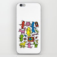 Haring - Simpsons iPhone & iPod Skin