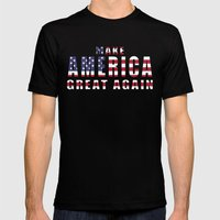 Make America Great Again Mens Fitted Tee Black SMALL