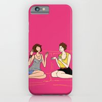 iPhone & iPod Case featuring girl talk by 1hugaday