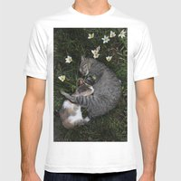 Sleep [A CAT AND A KITTE… Mens Fitted Tee White SMALL