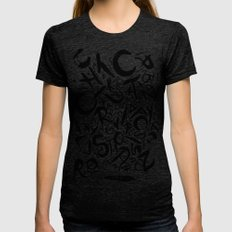 Graphic Black And White … Womens Fitted Tee Tri-Black SMALL