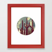 Space Cactus Framed Art Print