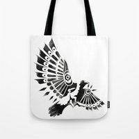 Raven Crow Shaman tribal design Tote Bag