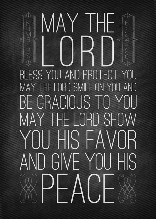 Numbers 6:24-26 The Blessing Art Print