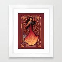 Fire is Catching Framed Art Print