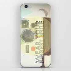 WEAR YOUR BIGGEST SMILE iPhone & iPod Skin