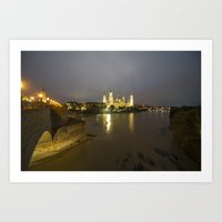 Zaragoza Nights  Art Print