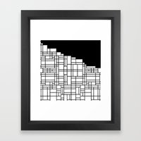 Map Black Boarder Framed Art Print
