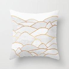 White Hills Throw Pillow