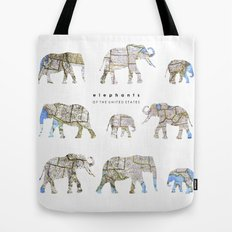Elephants of the United States Tote Bag
