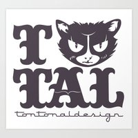 TTAL cat purple Art Print