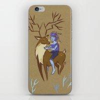 Deer and Girl iPhone & iPod Skin