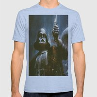 Darth Vader Vintage Mens Fitted Tee Athletic Blue SMALL