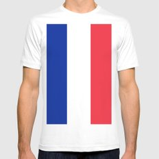 France / French Flag / Drapeau White Mens Fitted Tee SMALL