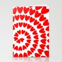 Patt2 RED HEARTS Stationery Cards