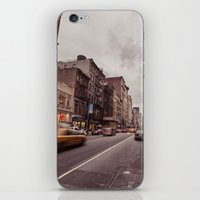 A Yellow Cab In SoHo iPhone & iPod Skin