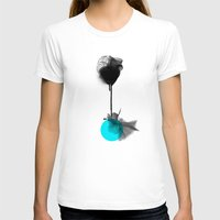 Around me Womens Fitted Tee White SMALL