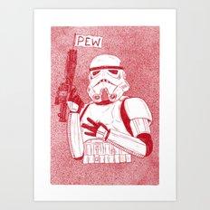 Storm Trooper Art Print