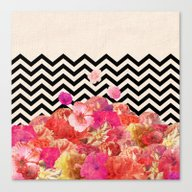 Canvas Print featuring Chevron Flora II by Bianca Green