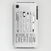 iPhone Cases featuring weapons of mass creation by Bianca Green