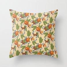 Botanical Oranges Throw Pillow