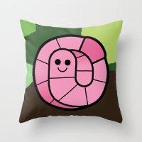 Cutesy Crawlies — Eart… Throw Pillow
