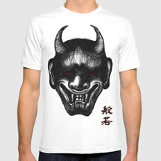 Hannya (Japanese Culture) Mens Fitted Tee White SMALL