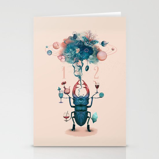 funny beetle Stationery Card
