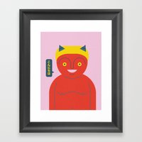 Happy Demon Framed Art Print