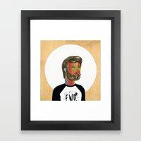 6x6 Man Framed Art Print