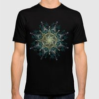 Heart Chakra Mens Fitted Tee Black SMALL
