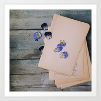 She Filled the Pages of Her Life With Happiness and Flowers Art Print