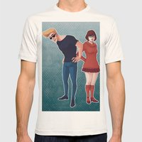 johnnybravoandvelma Mens Fitted Tee Natural SMALL