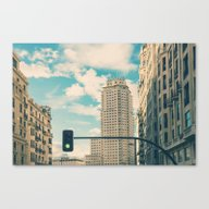 Green Light For Madrid Canvas Print