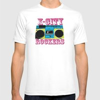 X-CITY ROCKERS Mens Fitted Tee White SMALL