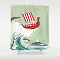 Sharkwave Shower Curtain