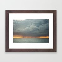Sunset Storm  Framed Art Print