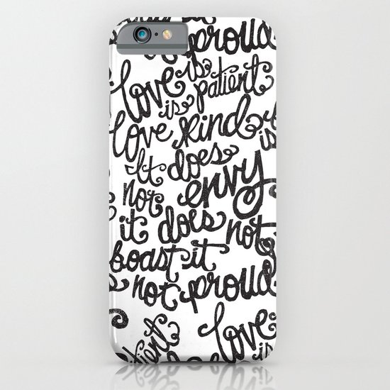 LOVE IS PATIENT... iPhone & iPod Case