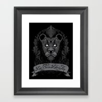 Burning Lies Framed Art Print