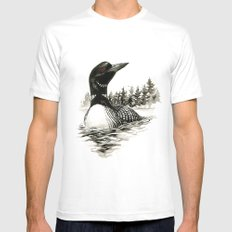North Shore Loon Mens Fitted Tee White SMALL