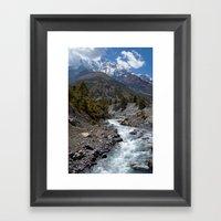 River And Mountains En R… Framed Art Print