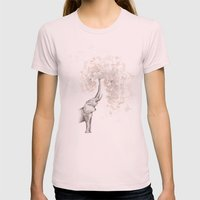 The Call Womens Fitted Tee Light Pink SMALL